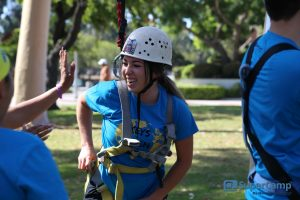 Camper on SuperCamp Ropes Course